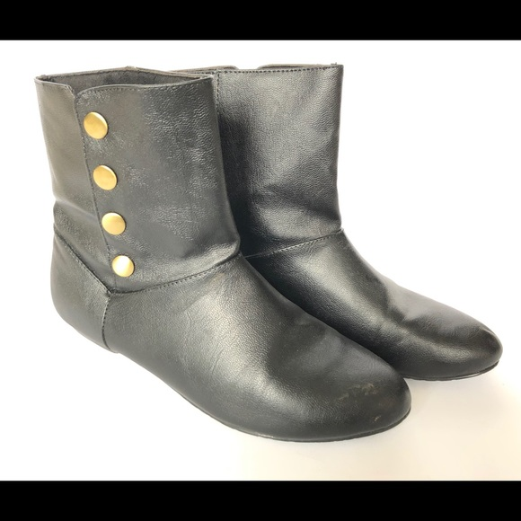 Chinese Laundry Shoes - Chinese Laundry Black Faux Leather Boots